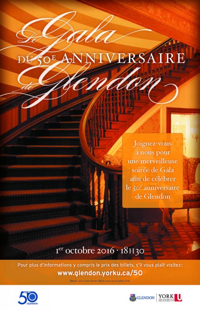 Le Gala du 50e anniversaire (Tenue de soirée) @ BMO Conference Centre, Glendon Hall |  |  |