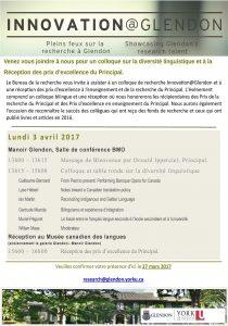 Colloque de Recherche sur la diversité linguistique & Réception de remise de prix