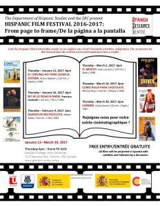 Hispanic Film Festival @ YH A101 - Glendon College