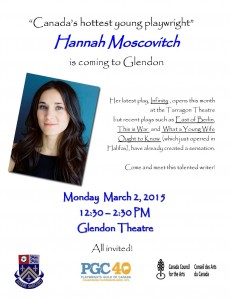 Hannah Moscovitch Poster