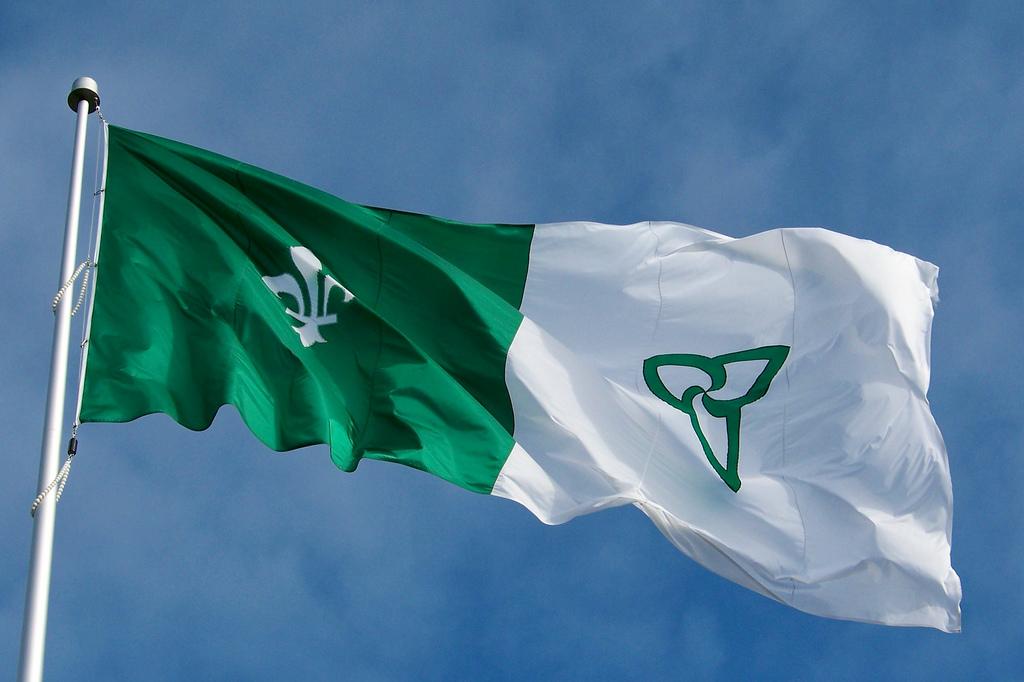 franco ontarian flag