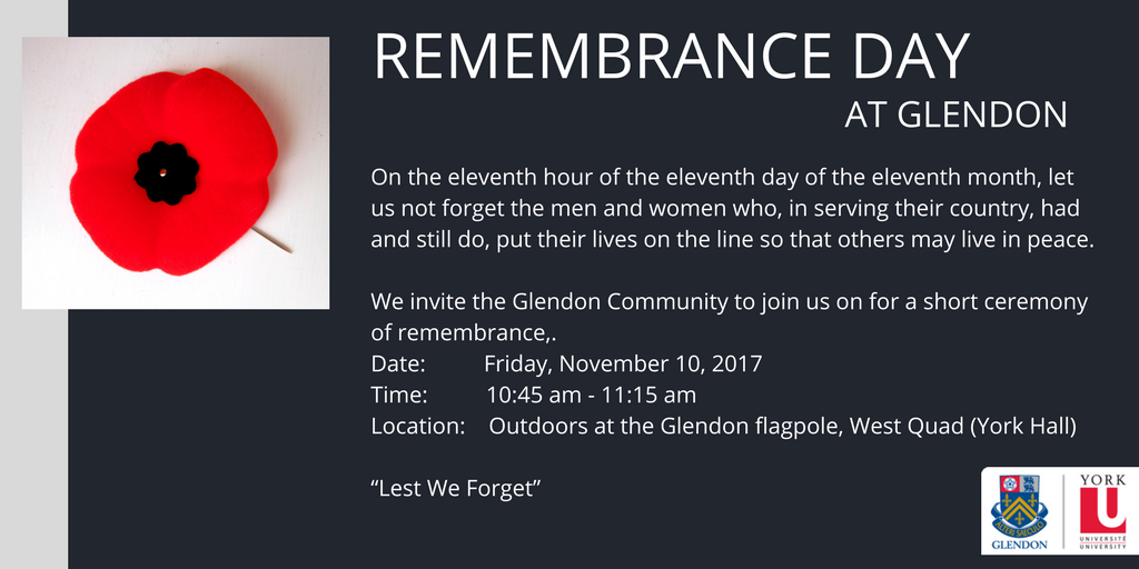 Remembrance Day Message