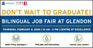 Bilingual Job Fair at Glendon