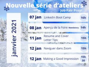 List of Career Fair Preparation Workshops