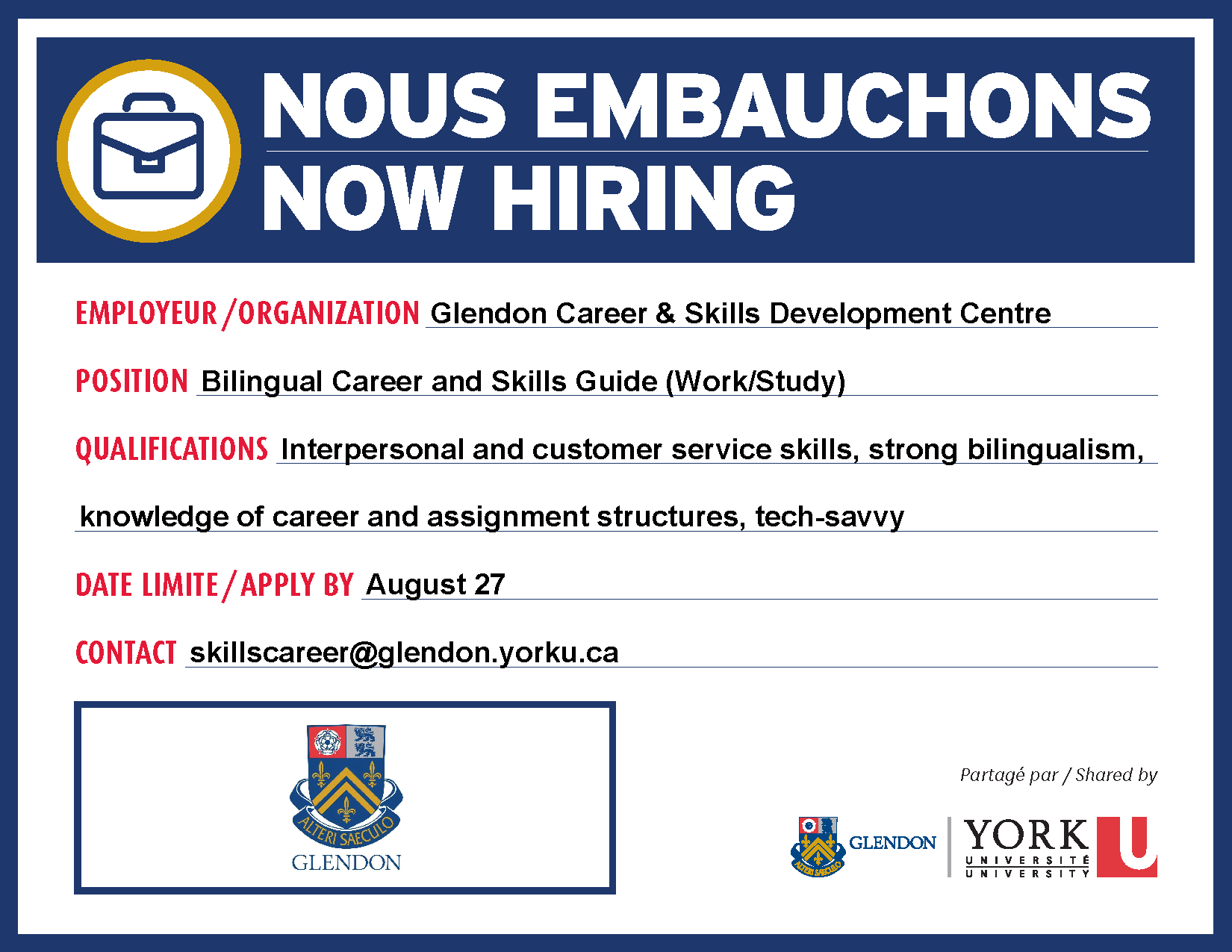 Career Skills Centre | Glendon
