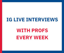 IG live interviews with profs