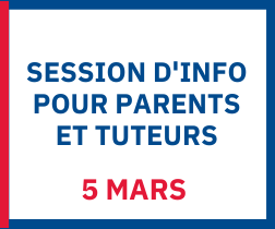 Session d'info pour parents et tuteurs