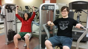 Alessandra shows Steele how to use some of the machines in the weight room