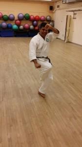 Man doing Karate