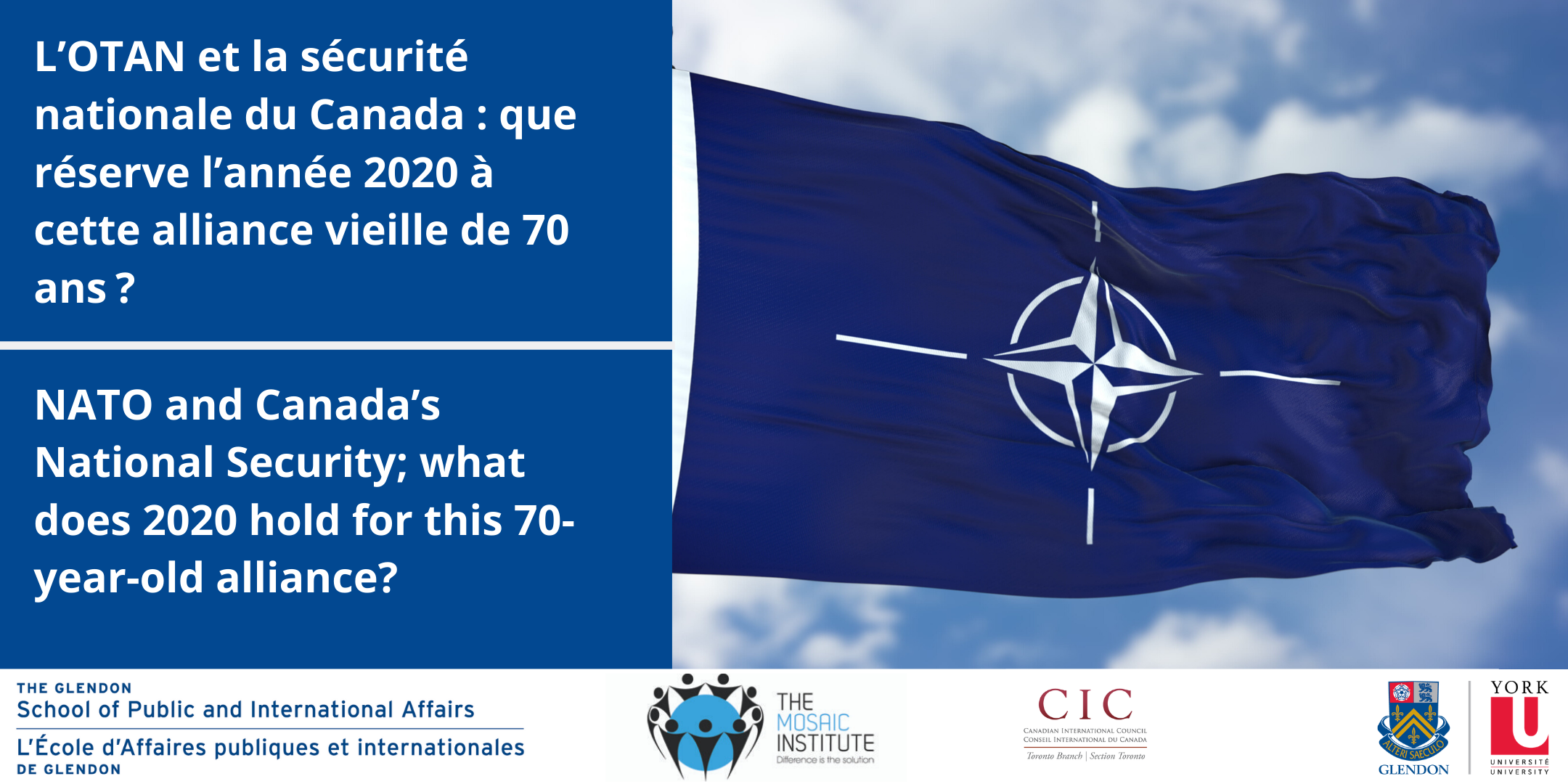 NATO and Canada's National Security; what does 2020 hold for this 70-year-old alliance? @ A300