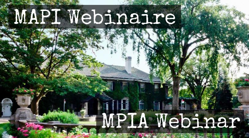 MPIA Webinar @ Online